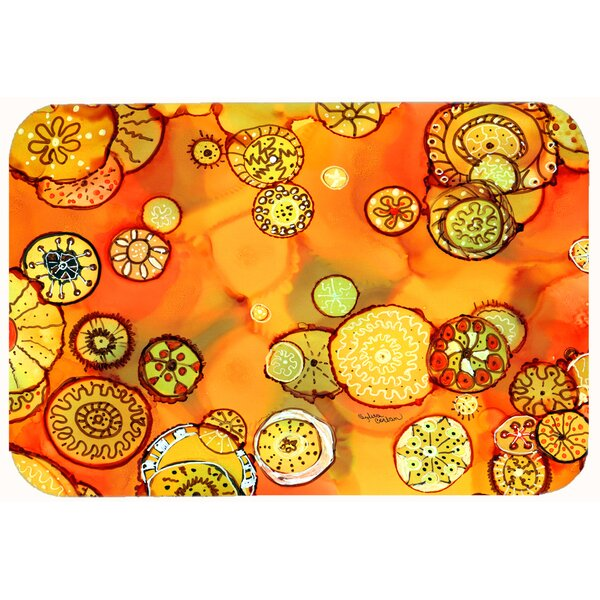Abstract Flowers Kitchen/Bath Mat by Caroline's Treasures