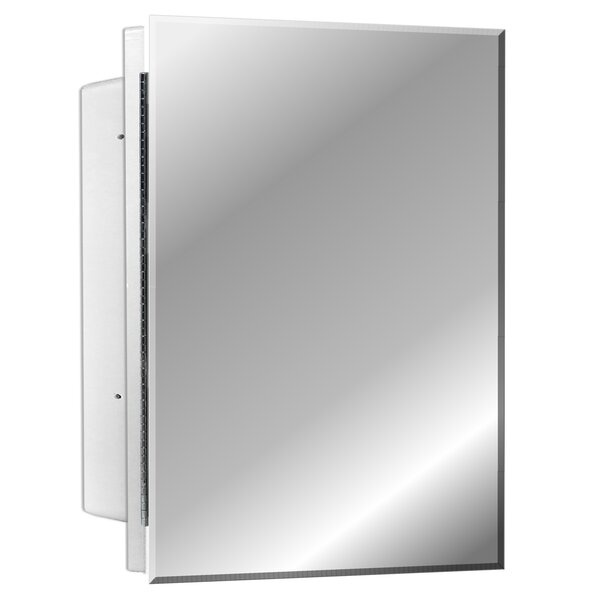 Adakras Recessed Frameless Single Door Medicine Cabinet with 2 Adjustable Shelves