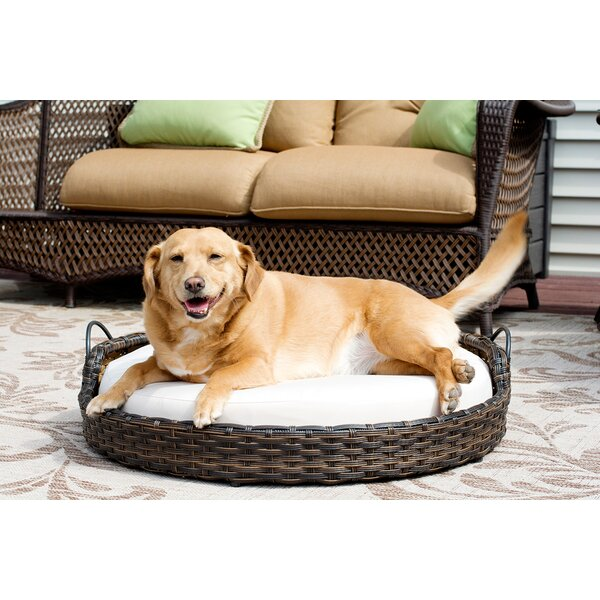 Rattan Round Dog Sofa by Iconic Pet