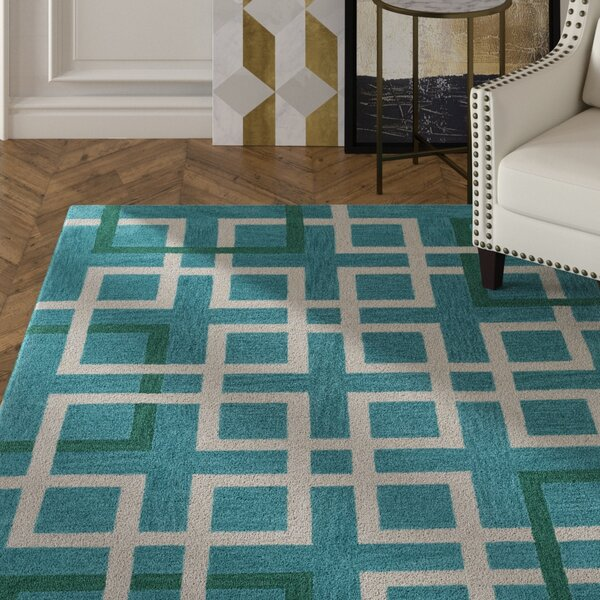 Petra Teal Area Rug by Mercer41