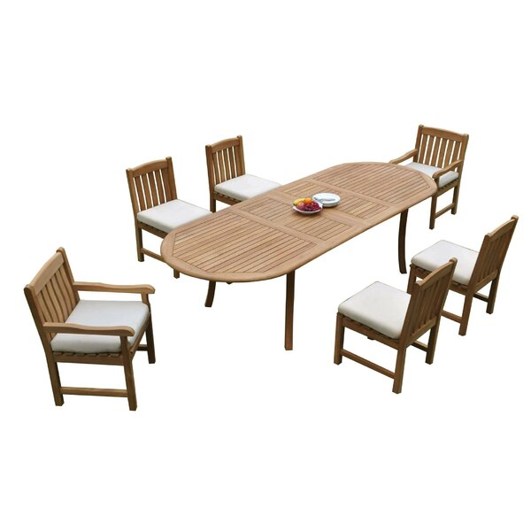 Nimitz 7 Piece Teak Dining Set by Rosecliff Heights