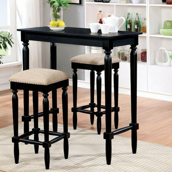 Escalante Wooden 3 Piece Pub Table Set (Set of 3) by Darby Home Co