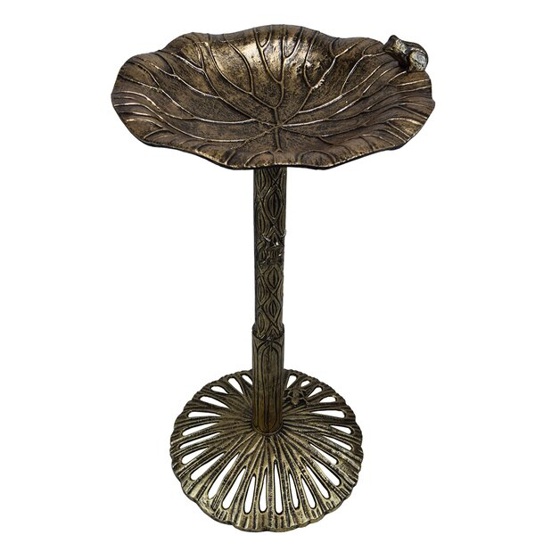 Handmade Solid Metal Birdbath by Oakland Living