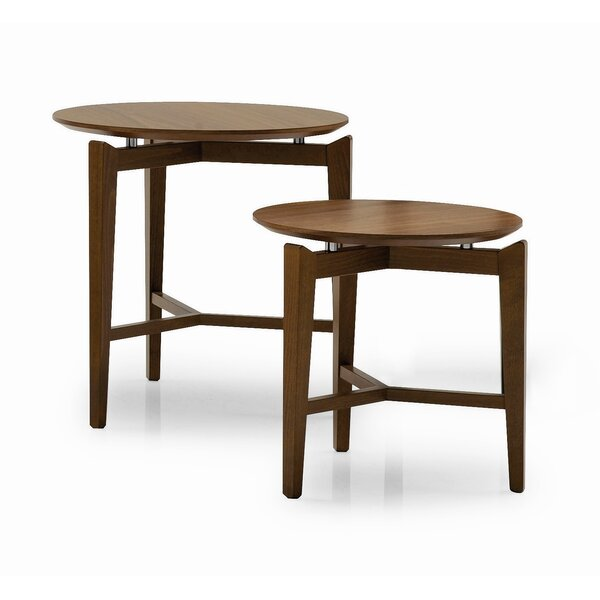 Symbol Solid Wood 3 Leg End Table by Calligaris Calligaris
