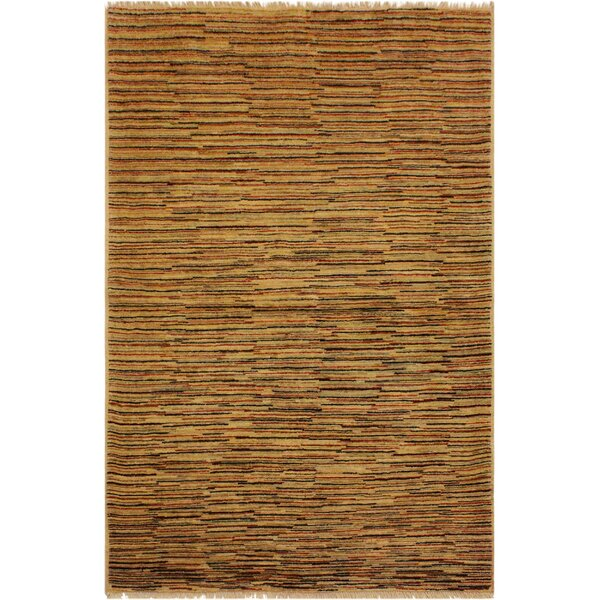One-of-a-Kind Milo Hand-Knotted Wool Tan/Rust Area Rug by Fleur De Lis Living