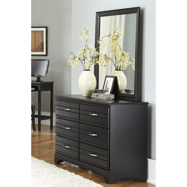 Della 6 Drawer Double Dresser with Mirror by August Grove