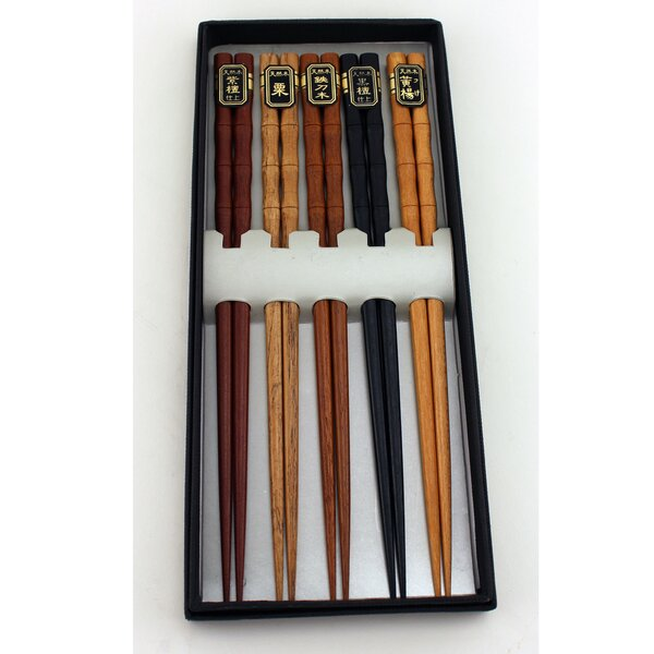 5-Piece Wooden Chopstick by BergHOFF International