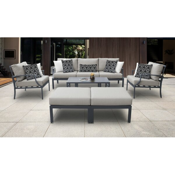 Benner Outdoor 8 Piece Sectional Seating Group with Cushions by Ivy Bronx Ivy Bronx