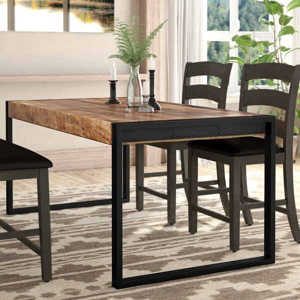 Best #1 Almodovar Solid Wood Dining Table By Loon Peak Top Reviews