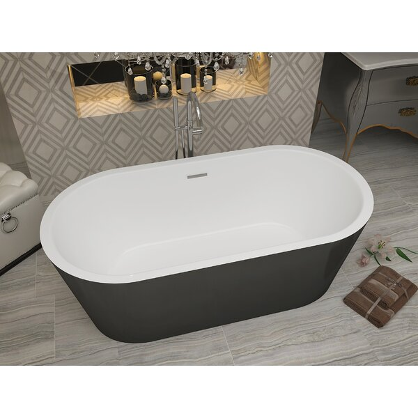 Dualita 63 x 31.4 Freestanding Soaking Bathtub by ANZZI