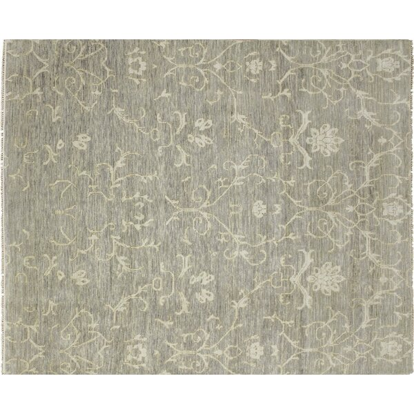 One-of-a-Kind Lona Hand-Knotted Green Area Rug by Isabelline