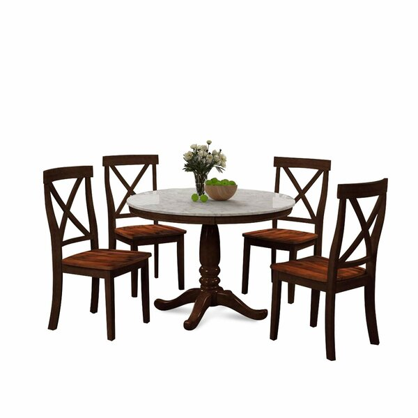 Luveme 5 Piece Dining Set by Alcott Hill Alcott Hill