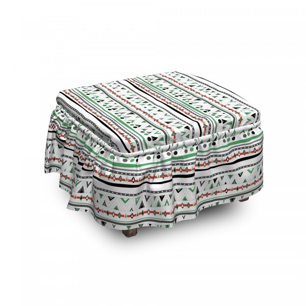 Boho Hippie Traditional Ottoman Slipcover (Set Of 2) By East Urban Home