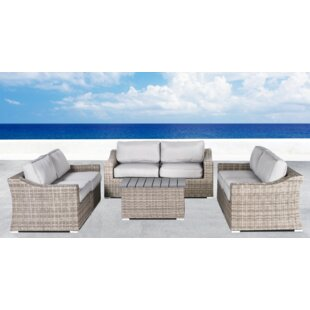 Huddleson 7 Piece Rattan Sofa Set with Cushions By Rosecliff Heights