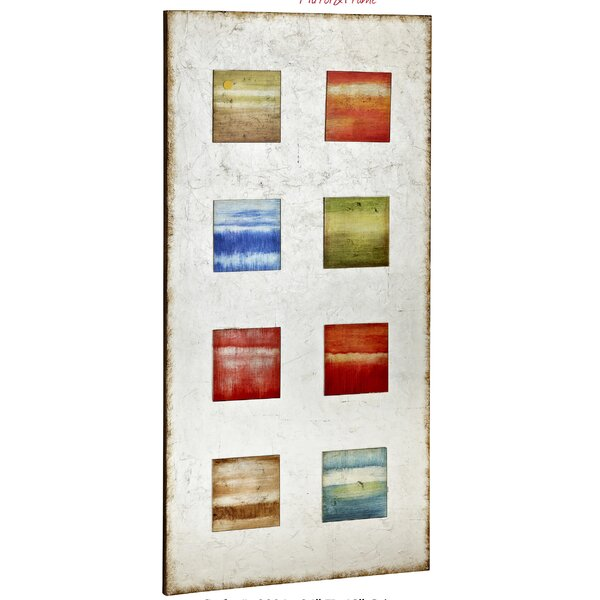Colorful Rectangular Glass Painted Contemporary Wall Art by Majestic Mirror