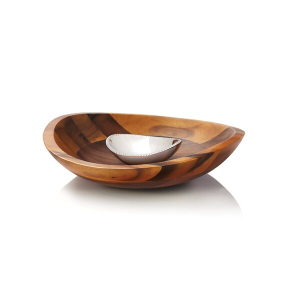Braid Chip and Dip Platter by Nambe