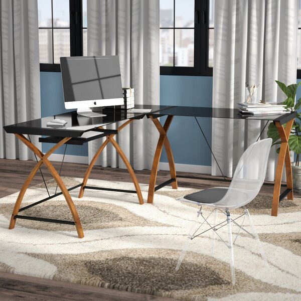 Buff Modern L-Shaped Desk by Latitude Run