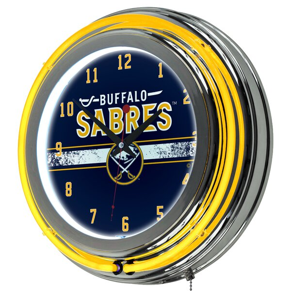 Nhl Neon 14 5 Wall Clock By Trademark Global.