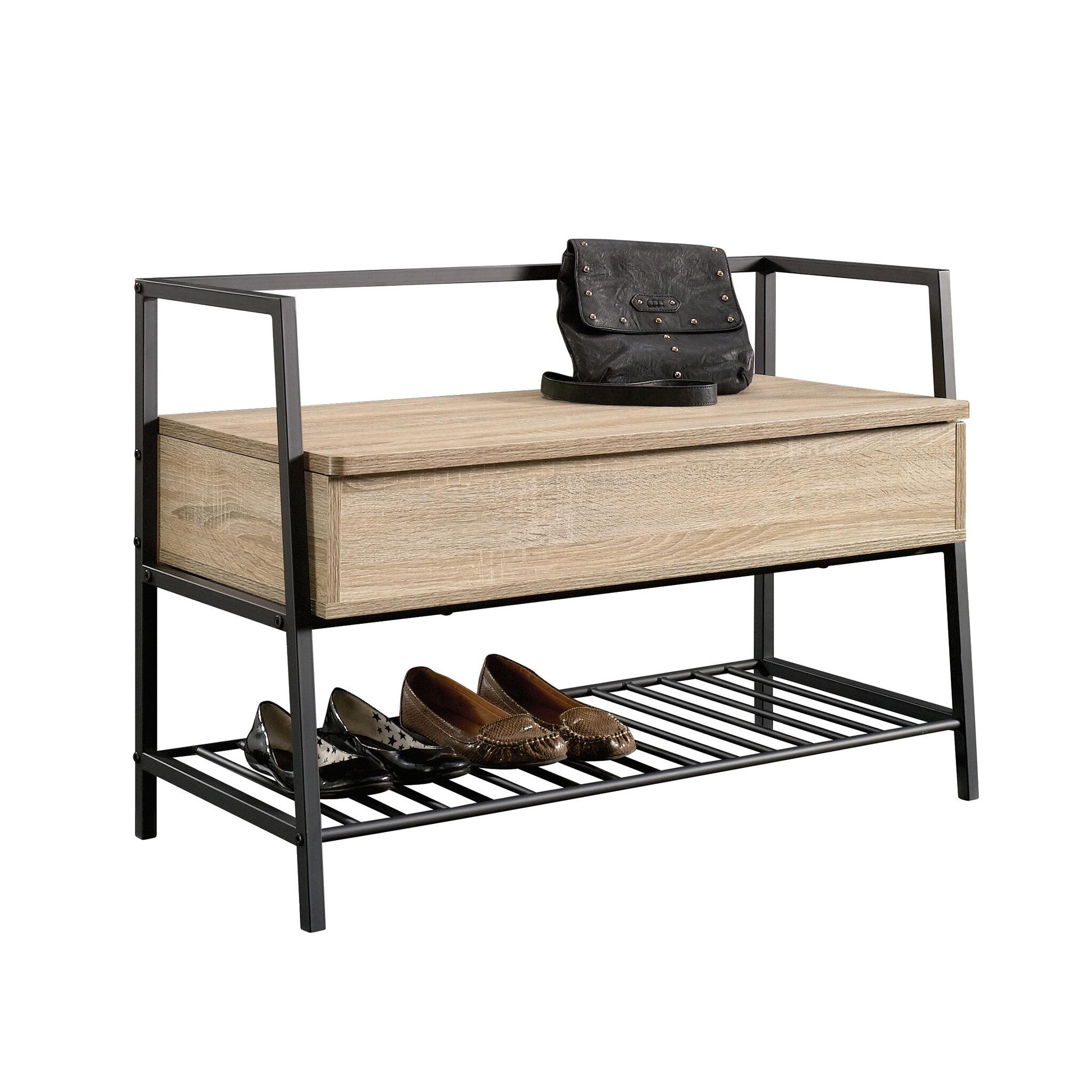 Ermont Wood Storage Bench Reviews Allmodern