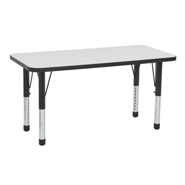 Dry-Erase Adjustable 60 x 24 Rectangular Activity Table by ECR4kids