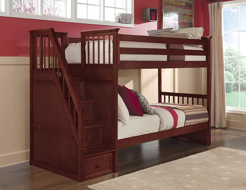 Lit Superposé Sous Pente lit superposé simple au-dessus de simple avec tiroirs radley