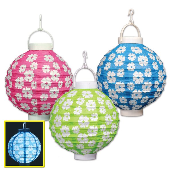 Light-Up Hibiscus Paper Lanterns Luminary by The Beistle Company