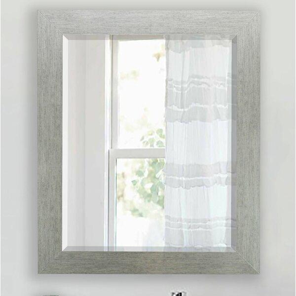 Tirado Brushed Silver Beveled Wall Mirror by Brayden Studio