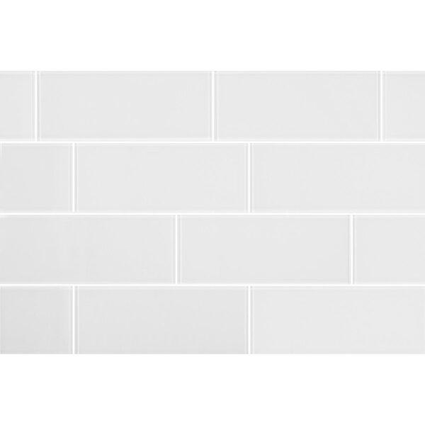 3 x 8 Glass Field Tile in Clear by Seven Seas