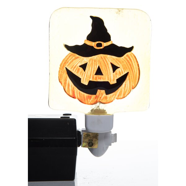 Ralph Halloween Pumpkin and Candy Night Light by The Holiday Aisle