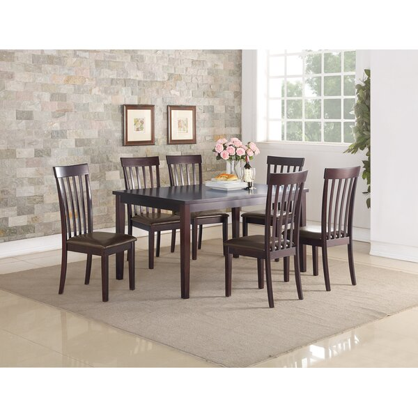 Septimus Rubberwood 7 Piece Dining Set by Alcott Hill