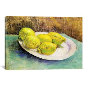 'Still Life with Lemons on a Plate' by Vincent Van Gogh Painting Print on Wrapped Canvas by iCanvas