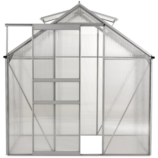 Aluminum Walk-in 6 Ft. W x 4 Ft. D Greenhouse with Double Roof Vent by OGrow