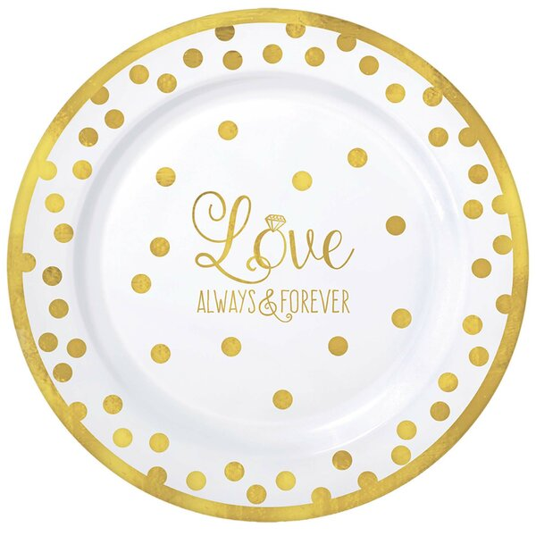 Plastic Dessert Plate (Set of 20) by Amscan