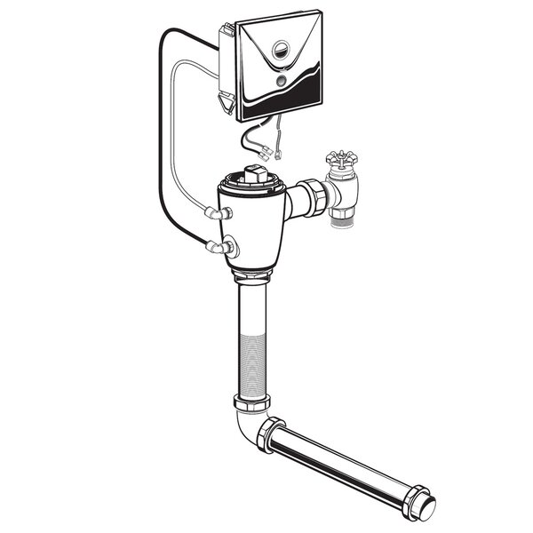 Concealed 1.28 GPF M-AC Flush Valve with Back Spud by American Standard