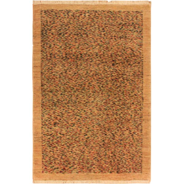 One-of-a-Kind Abramowitz Hand-Knotted Wool Tan/Blue Area Rug by Isabelline