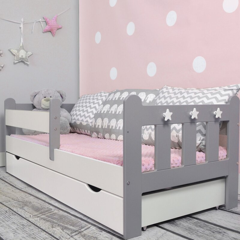 m bel concept kinderbett clara mit matratze und schublade. Black Bedroom Furniture Sets. Home Design Ideas