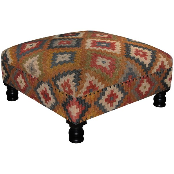 Tomball Handmade Kilim Cocktail Ottoman by Loon Peak Loon Peak