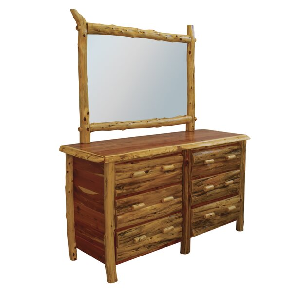 Detroit 6 Drawer Double Dresser with Mirror by Loon Peak