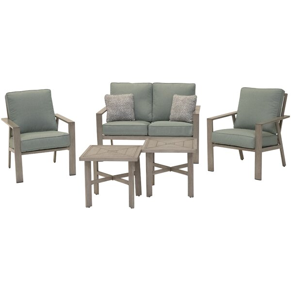 Brooklandville 5 Piece Sofa Seating Group with Cushions by Rosecliff Heights
