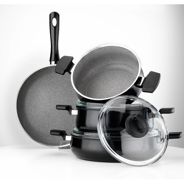 Neptune 7 Piece Cookware Set by Hisar
