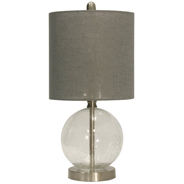 Tropeano Glass and Steel 19 Table Lamp by Ivy Bronx