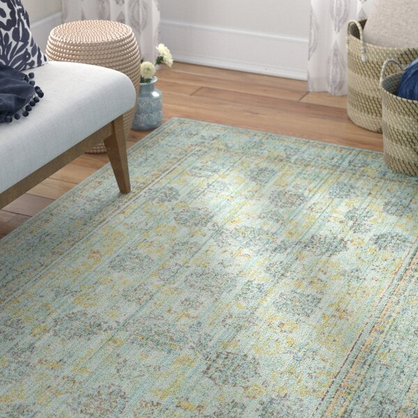 Privette Light Blue/Turquoise Area Rug by Bungalow Rose