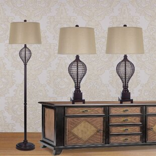 Price comparison 3 Piece Table and Floor Lamp Set By Fangio Lighting