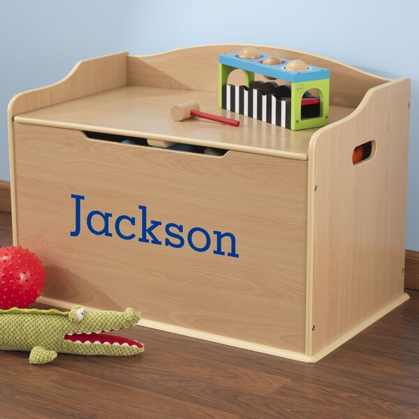 Personalized Austin Natural Toy Box by KidKraft