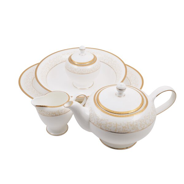 Daniela Bone China Traditional Serving 5 Piece Dinnerware Set by Shinepukur Ceramics USA, Inc.
