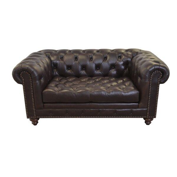 Best Brand Cambridge Leather Chesterfield Sofa by Westland and Birch by Westland and Birch