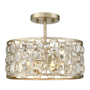 Caspian 2-Light Semi Flush Mount