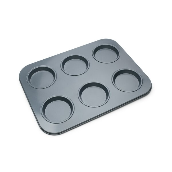 Non-Stick 6 Cup Large Shallow Muffin Pan by Fox Run Brands