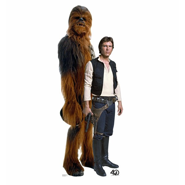 Star Wars 40th Han Solo™ and Chewbacca™ Standup by Advanced Graphics