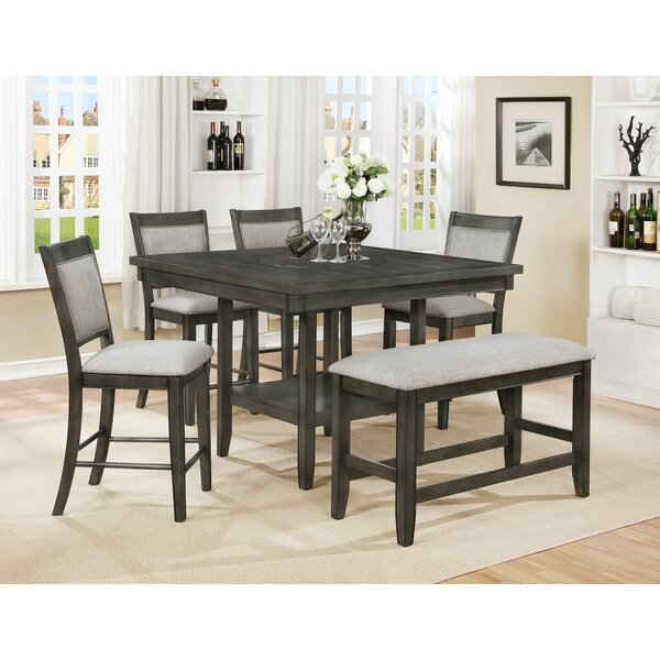 Addie 6 Piece Counter Height Dining Set (Set of 6) by Gracie Oaks